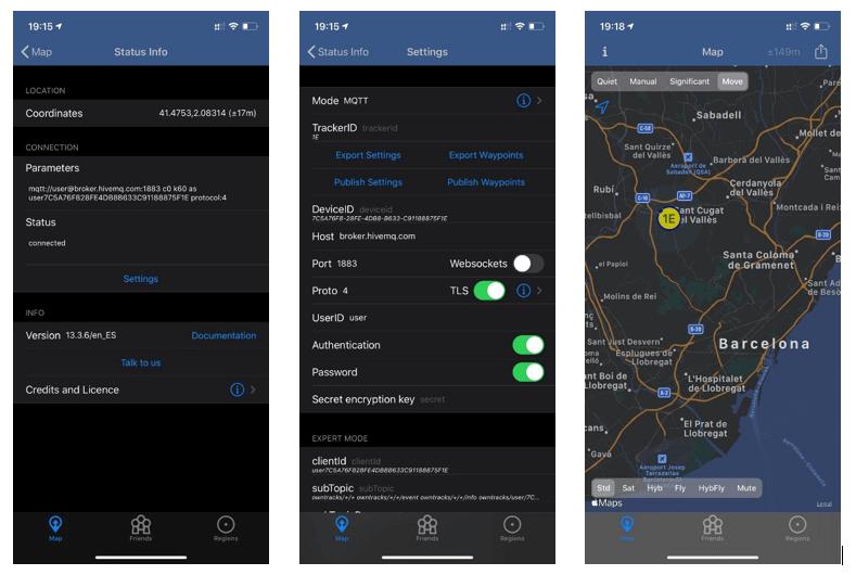 configuración app Owntracks